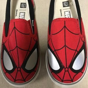 Boys 10 GAP Spider-Man Loafers - NEW never worn.